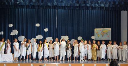 Grundschule Sprendlingen musical aufführung die götterolympiade